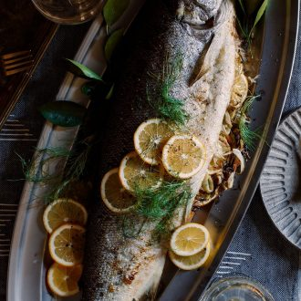 Fennel & Meyer Lemon Stuffed Salmon