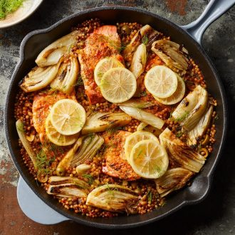 Salmon with Fennel & Couscous