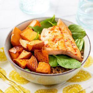 Salmon & Sweet Potato Bowl