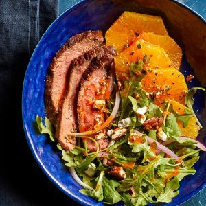 Smokey Steak Salad with Arugula & Oranges