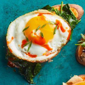 Spinach & Egg Sweet Potato Toast
